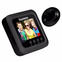 "⚫👁Kamera & Bel Pintu Keamanan. Black 2.5"" LCD Screen Door Viewer"