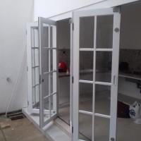 pintu lipat//folldingdoor//kusen alexindo//ornamen