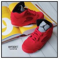 AIR JORDAN 5 Red Suede PS Preschool Kids Sneaker Original sepatu anak