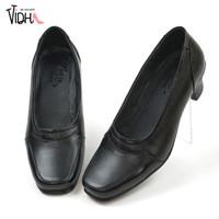 Sepatu Pantofel Wanita Formal Sepatu Hell Wanita Kulit Asli MV013