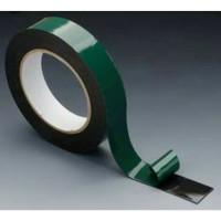 Solasi Double Tape Foam 1 1Inch x 5m Dobeltip 20mm hijau busa 3M