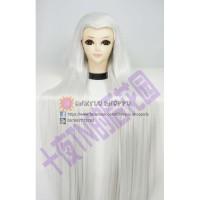 Cosplay Wig / Rambut palsu putih panjang lurus karakter elf