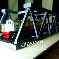 miniatur jembatan Kereta api