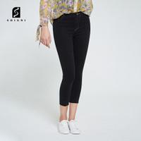 SOIGNI Celana Jeans Wanita Hitam Celana Panjang Terbaru