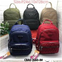 CB3560 Tas Ransel Chibao Bordir size Medium Backpack Women Import