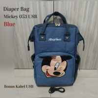 Tas Bayi Diaperbag MICKEY MOUSE TERBARU LIMITED EDITION FREE USB