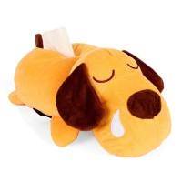 Tempat tisu mobil/cover tisu refill model boneka Anjing warna kuning