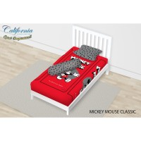 SPREI SINGLE CALIFORNIA FULL FITTED 120X200 MICKEY MOUSE CLASSIC
