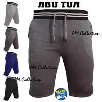 Celana Pendek Pria Katun Rib Premium / Kolor Santai (Bisa Pilih Warna)
