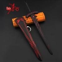 Gantungan kunci pedang 22 cm anime fate stay night excalibur hitam