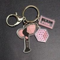 Gantungan kunci keychain kpop akrilik logo lightstick blackpink