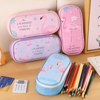 Flamingo Multi Pencil Case / Tempat Pensil Alat Tulis Besar Jumbo