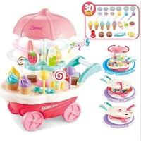 Mainan Anak Mini Sweet Cart Gerobak Ice Cream Store Play Set 66856