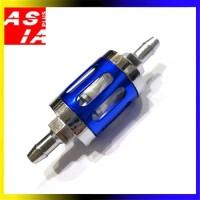 FILTER BENSIN MODEL KACA Y2H SPAREPART VARIASI MOTOR CR7 RACING BLUE
