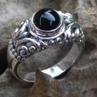 Gagang cincin perak motif ukiran kembang bun collector item