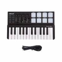 Worlde Panda Portable 25-Key USB Keyboard and Drum Pad MIDI Control