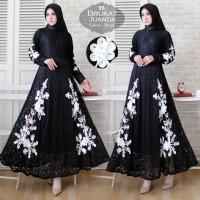 Baju Atasan Wanita Maxi Dress Baju Muslim Maxi Juanda Black Tatop.102