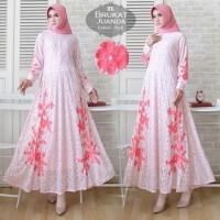 Baju Atasan Wanita Maxi Dress Baju Muslim Maxi Juanda Pink Tatop.102