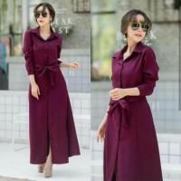 Baju Atasan Wanita Maxi Dress Baju Muslim Gamis Maroon Ta7.1450
