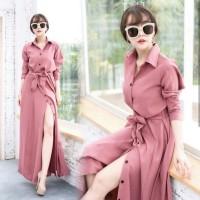 Baju Atasan Wanita Maxi Dress Baju Muslim Gamis Dusty Ta7.1450