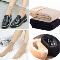 Kaos Kaki Winter Premium Thermal Velvet Sock - Beige