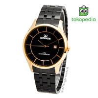 Jam tangan PRIA Klasik Elegan 8544M Hitam Rosegold - GARANSI 1 TAHUN B