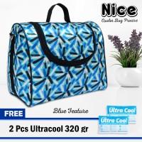 Nice Cooler Bag Precise Free Ice gel 2pcs Tas Pendingin Asi - BLUE FEATURE