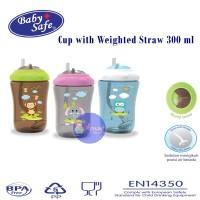 Baby Safe Botol Minum Anak Dengan Sedotan 300 ML - FS405