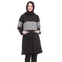 Mybamus Little Tartan Mikina Tunic Black M12354 R1S3