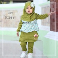 Uliya Legging Set - Baju Muslim Balita - Setelan Baju Kekinian 1-2thn