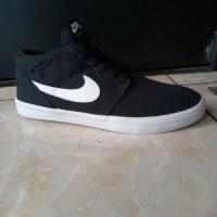 Sepatu nike sb portmore mid hitam putih