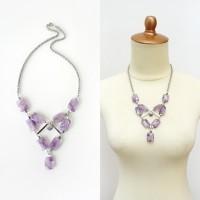 Violet Town Necklace // Kalung Batu Light Purple Amethyst Statement