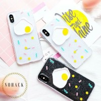 EGG CASE OPPO IPHONE 6 6S 6+ 6S+ 7 7+ 8 8+ plus X XS cute lucu glitter