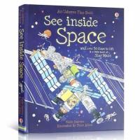 Usborne see inside space buku import anak