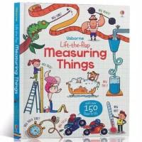 Usborne lift the flap measuring things buku import anak