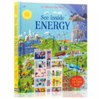 Usborne flap book see inside energy buku import anak