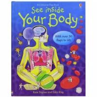 Usborne flap book see inside your body buku import anak