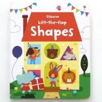 Usborne lift the flap shapes buku import anak