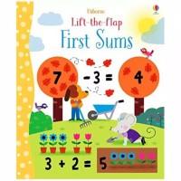 Usborne lift the flap first sums buku import anak