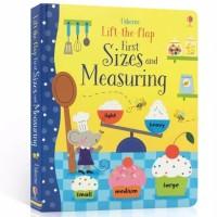 Usborne lift the flap first sizes and measuring buku import anak
