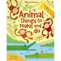 Usborne activities book animal things to make and do buku import anak