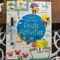 Usborne wipe clean pirate activities activity book buku import anak