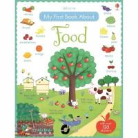 Usborne my first book about food sticker book activity book buku impor
