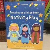 Usborne dressing up sticker book nativity play activity book buku impo
