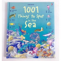 Usborne 1001 things to spot in the sea buku import anak