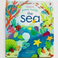 Usborne peep inside the sea buku import anak