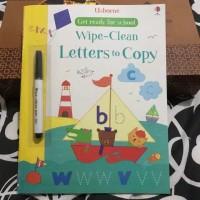 Usborne wipe clean letters to copy buku import anak activity book