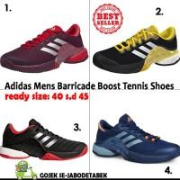 Terbaru Adidas Mens Barricade Boost 2018 Tennis Shoes. Sepatu Tennis