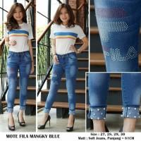 Celana Panjang Jeans Wanita Mote Filla Mangky Blue Tabelz.4