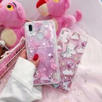 Case Vivo Y91 Y95 Y93 V9 V5 V5+ V7 Y71 V7+ Y53 Glitter Motif -Flamingo